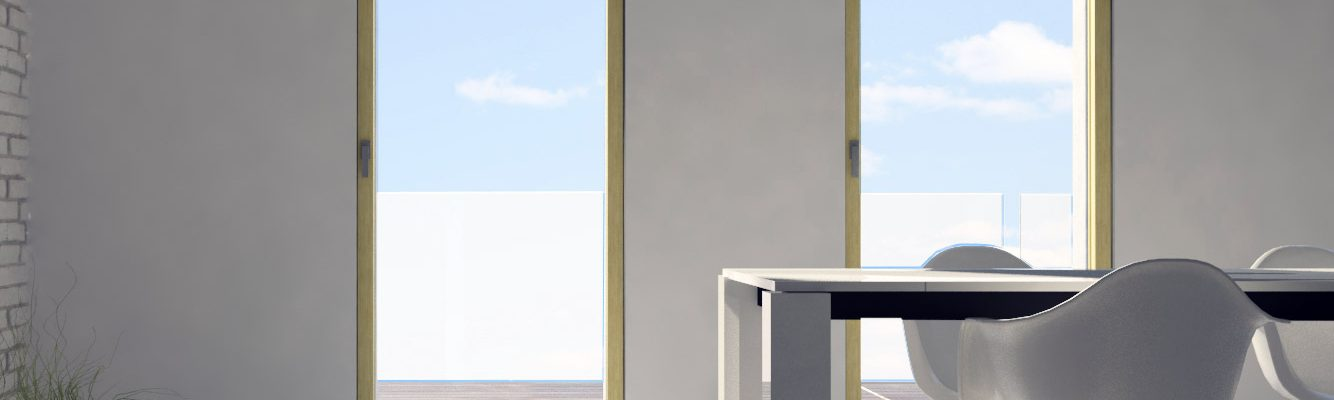 Wooden Skyline Door with flush to the wall solution