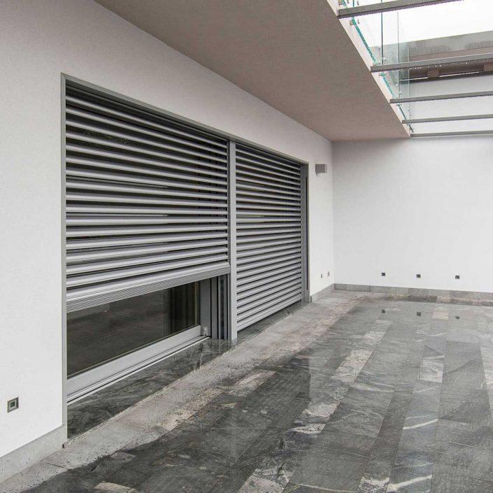 Villa Milano, aluminium brise soleil