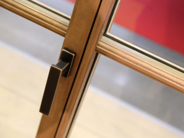 View of the Vittoria handle on a Skyline Classic window