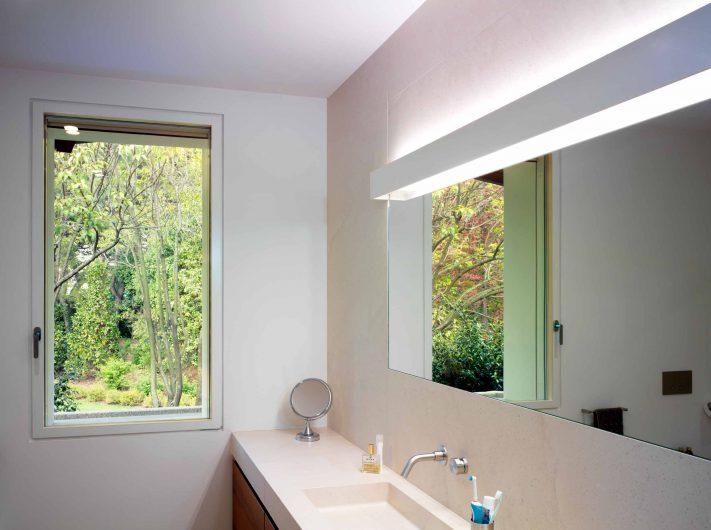 View of the bathroom with Skyline window one sash