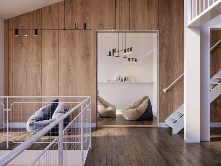 Lady pivot interior door in light natural oak and transparent glass